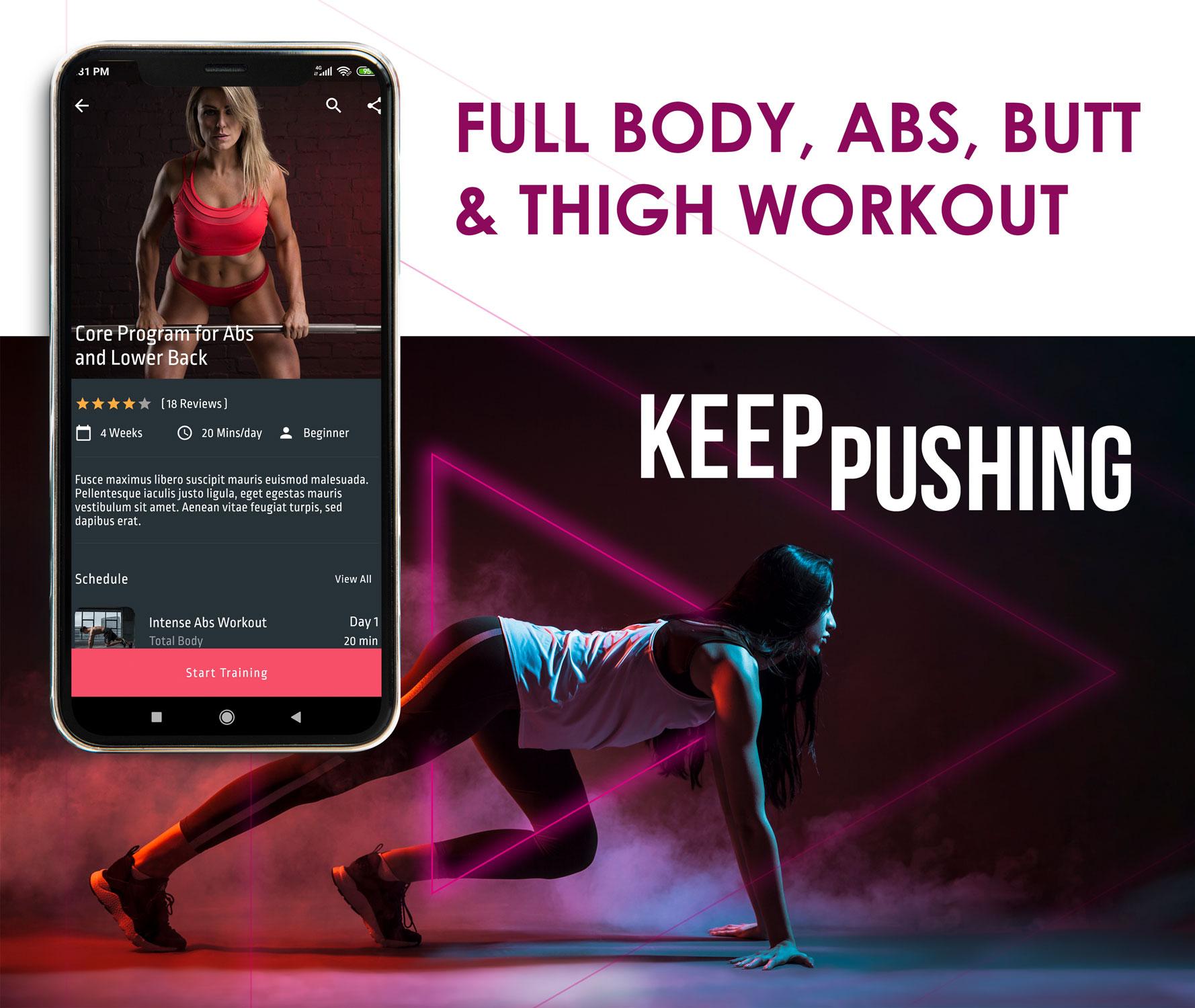 Flutter Fitness App Template - 4